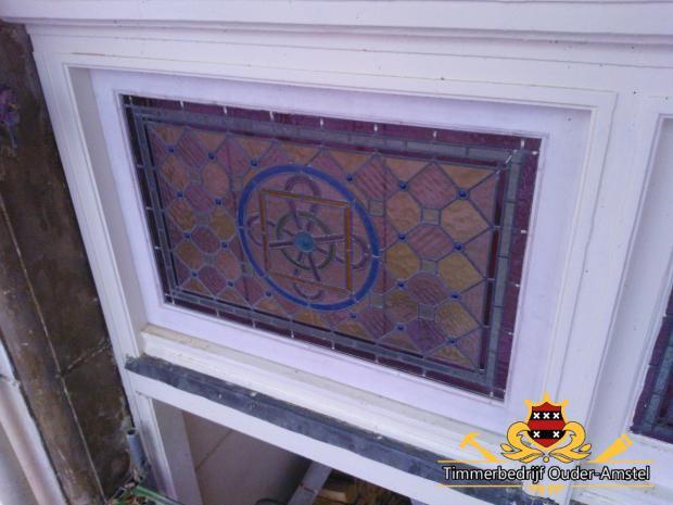 Houtrot glas-in-lood (nieuwe situatie)