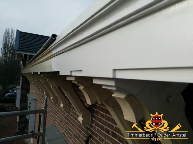 Herstel monumentale goot pastorie Elimkerk